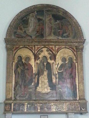 La Collegiata di San Quirico: Polittico Madonna fra i Santi