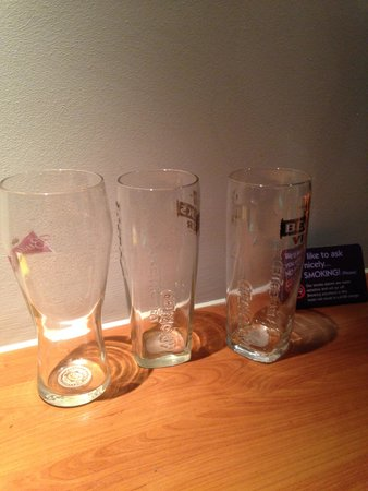 Premier Inn Chichester Hotel: Glasses always left