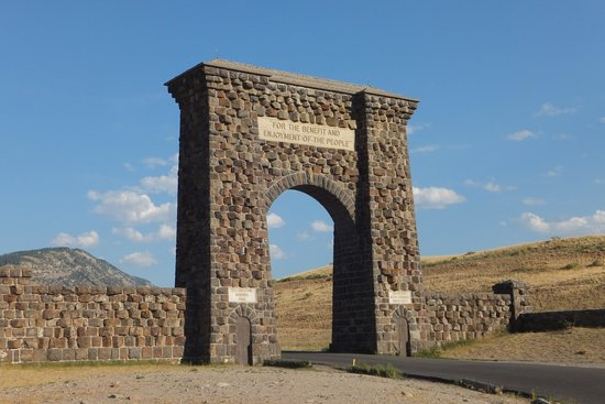 Super 8 Gardiner/Yellowstone Park Area: Roosevelt Arch at Yellowstone north entrance