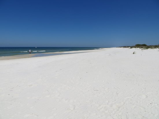 Cape San Blas: White sand and secluded beach