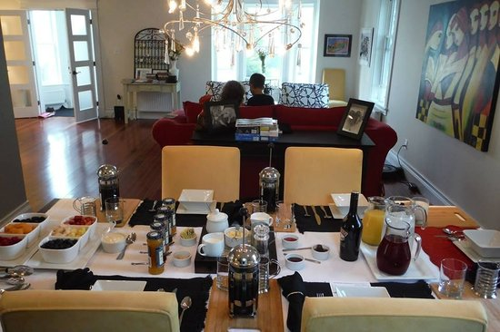 The Wellshire Bed and Breakfast: Breakfast a la Robin #gourmet