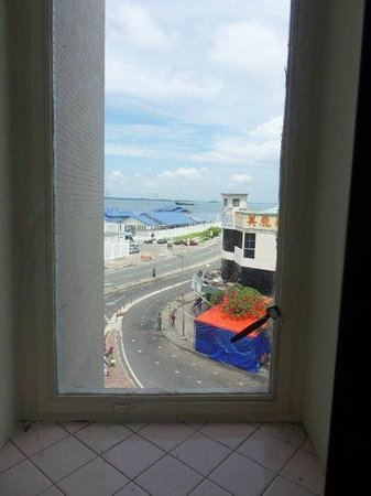 NAK Hotel : One of 4 windows l;ooking out to sea