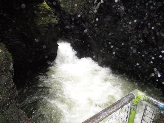 Lydford Gorge: there had been a lot of rain recently