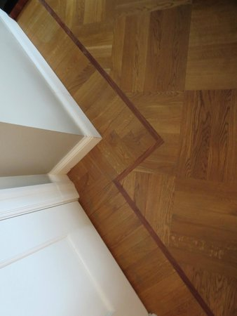 Hotel Borg by Keahotels: detail of restored parquet floor/attn to detail