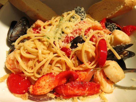 Rope Loft Dining Room: Seafood pasta