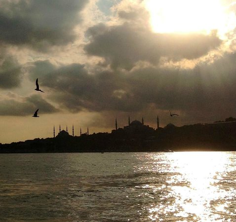 Istanbul Amedros Home: Hermoso atardecer hacia Penincula Sultanahmet