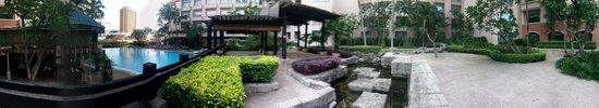 Swissotel Merchant Court Singapore : Garden with  Koi pool