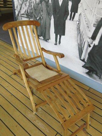 Maritime Museum of the Atlantic: Replica Titanic deckchair