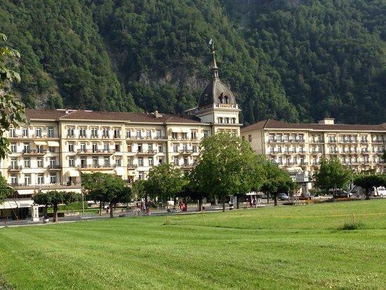 Victoria Jungfrau Grand Hotel & Spa : 朝の景色