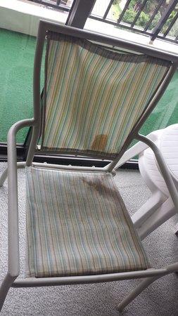 Aston at the Waikiki Banyan: stained chair