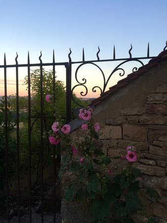 La Maison du Visiteur : Looking out across the countryside from the Basilica