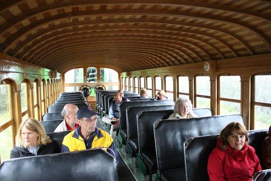 The Mount Washington Cog Railway : inside our car
