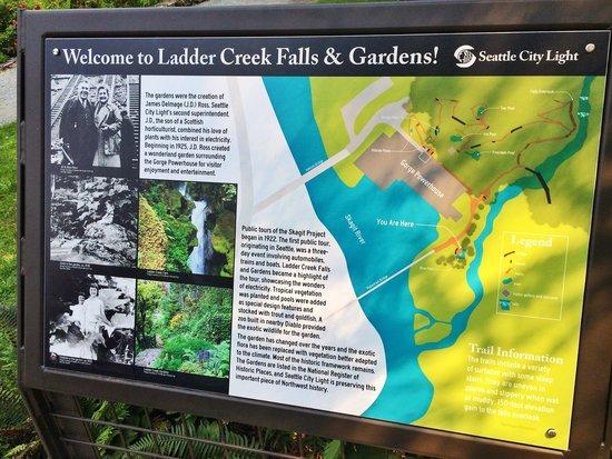 Ladder Creek Falls: Information board