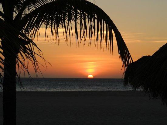 Manchebo Beach Resort & Spa: Gorgeous sunsets every night.