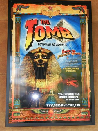Tomb Egyptian Adventure : The poster on the wall