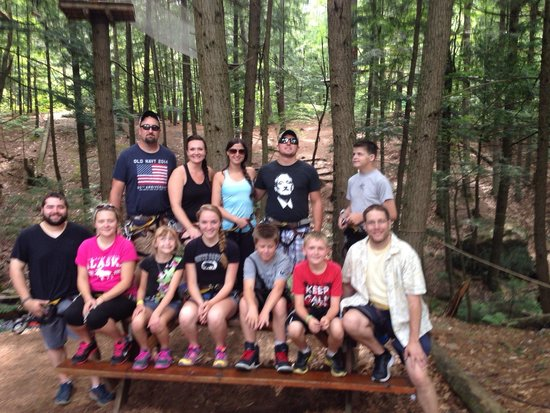 Adirondack Extreme Adventure Course: We did it!  2 courses down...  Two more to go!