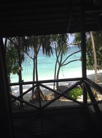 Lankayan Island Dive Resort: view from our porch