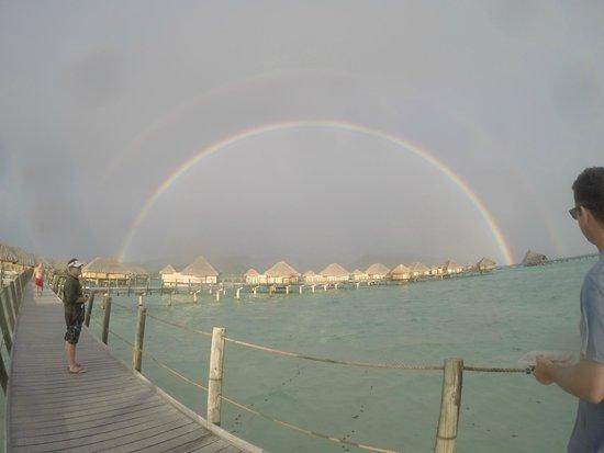 Le Taha'a Island Resort & Spa : Double Rainbow