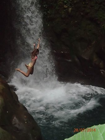 Rincon de La Vieja National Park: A safe jump that is about 12 feet up - water is cold but not freezing!