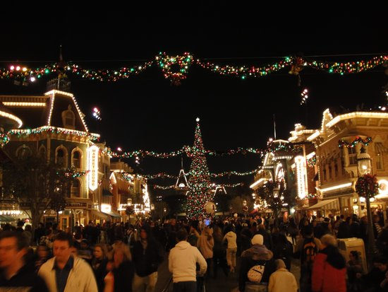 disneyland park disneyland at christmas time was crazy but we had a great