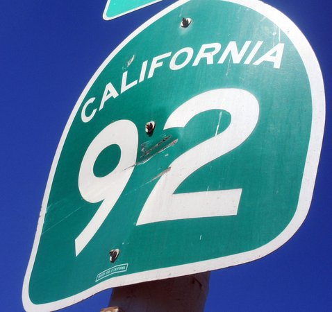 Сан-Матео, Калифорния: Route 92 - San Mateo (280) to Half Moon Way (Highway 1) Ca