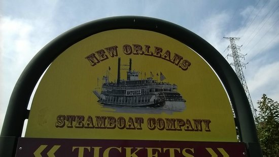 Steamboat Natchez: Sign at Entrance