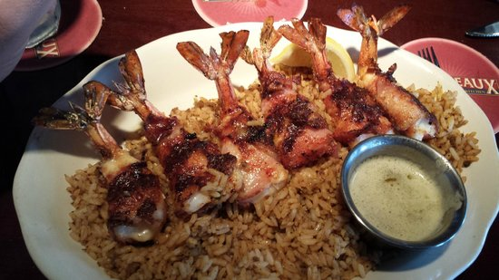 Jumbo Shrimp Brochette - Picture of Pappadeaux Seafood Kitchen ...