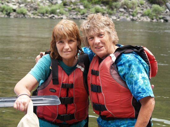 Salmon River Challenge- SRC: Author (R) and sister Pam