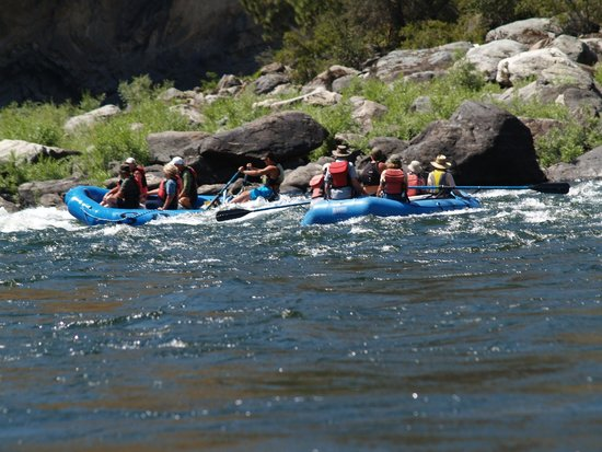 Salmon River Challenge- SRC: Part of our group entering a small rapid