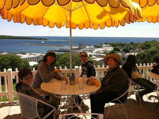 Fort Mackinac Tea Room: View from our table