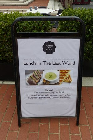 The Last Word Cafe sign at British Library