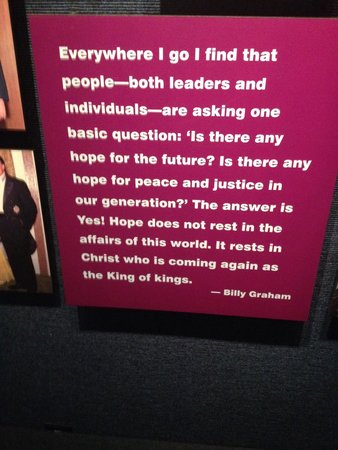 The Billy Graham Library: This says it all. Go visit. Release yourself and find yourself through Christ love and grace. It