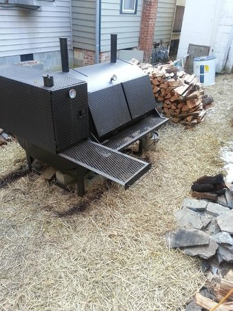 The Smoke House Grille: outdoor smoker