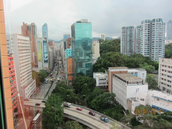 Eaton, Hong Kong: View from our room up Nathan Road