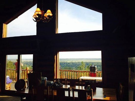 Niobrara River : view from in the cabin to the deck and beyond