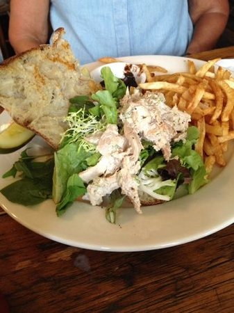 Miss Lucy's Kitchen: jerked chicken salad.  very tasty and more than hint of spice