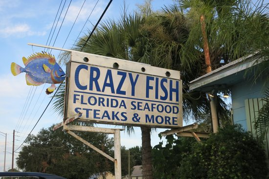 Crazy Fish Bar & Grill: Outdoor sign