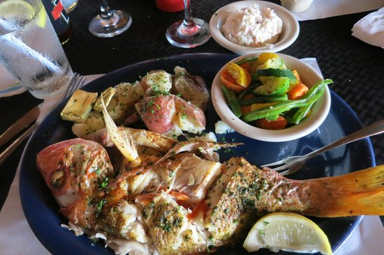 Crazy Fish Bar & Grill: Grilled red snapper