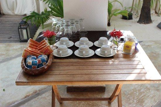 Posada La Cigala: Mesa do café da tarde