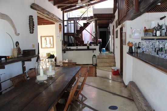Posada La Cigala: Área de convivência e aonde é servido o café e o Jantar