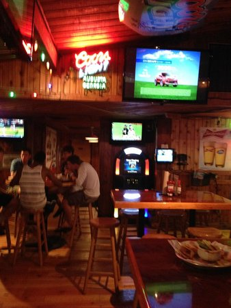 Hooters: View from inside