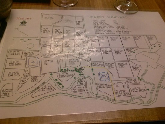 Hendry Ranch Wines: Map of the Vineyard
