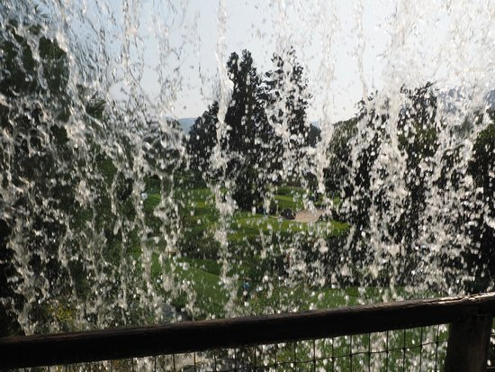 Enzian Inn : Behind the waterfall after the 18th hole at the putting course