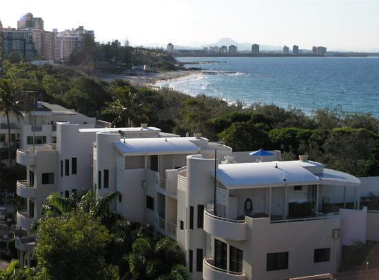 Mirra Chana Apartments - on the Spit Mooloolaba: Aerial View
