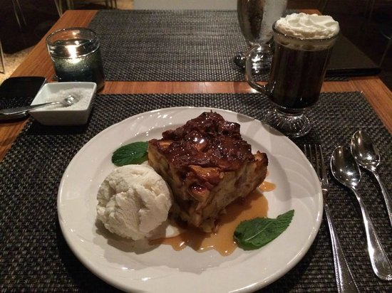 Bite: Peach Bread Pudding w/ Coffee cocktail