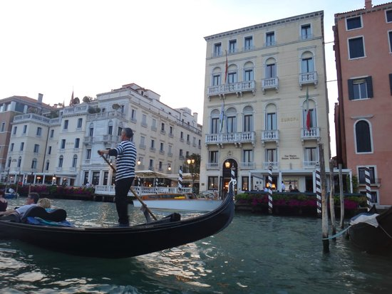 The Westin Europa & Regina, Venice: View of the Hotel from the Gondola on the Grand Canal