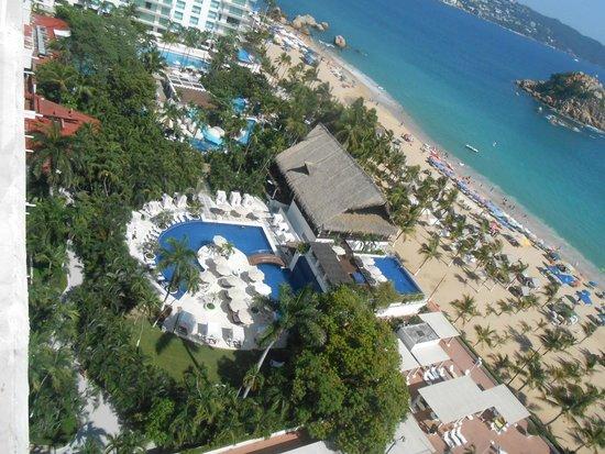 Emporio Acapulco Hotel: Así se veía desde el piso 11.