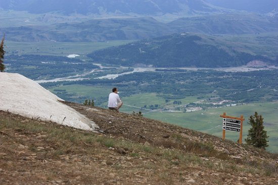 Jackson Hole Aerial Tram: View of the valley