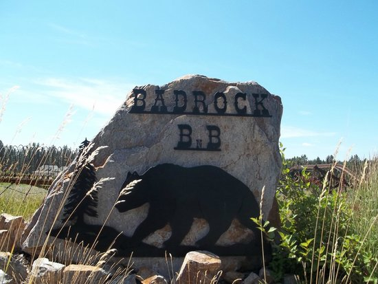 Bad Rock Bed and Breakfast: sign for the B& B