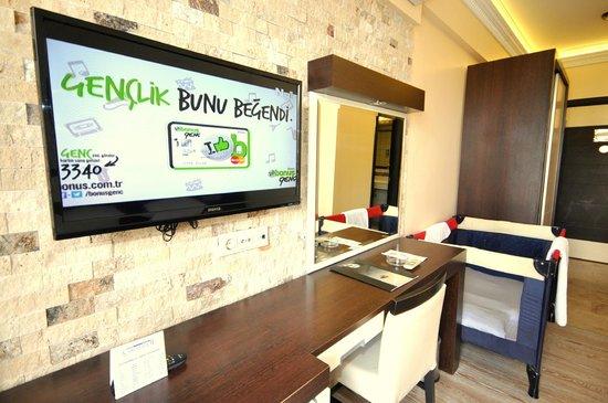 Camyuva Beach Hotel : New Standart Double Room + baby bed  20m2